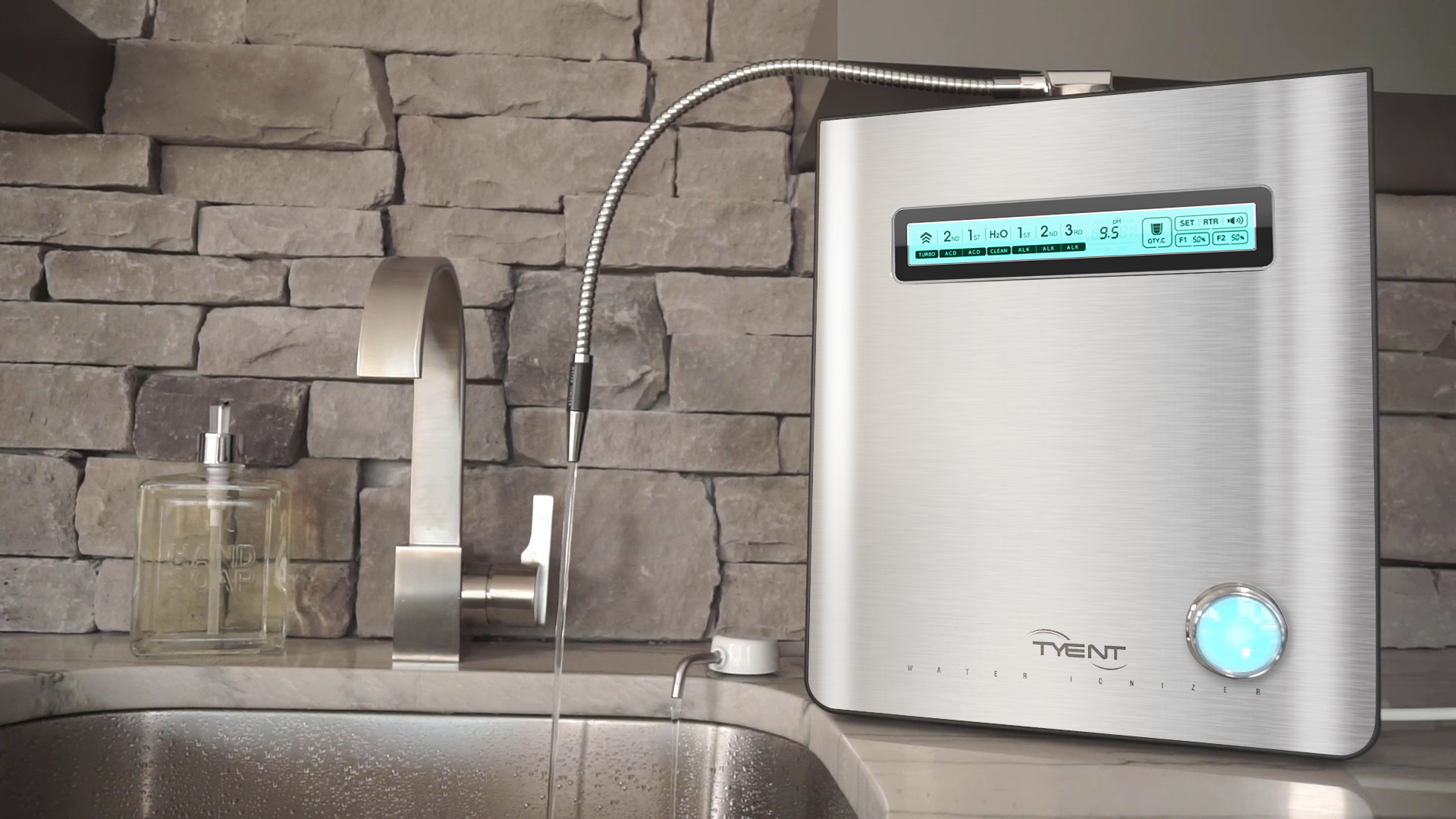 Versatility in tyent water ionizer products